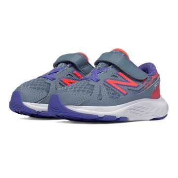 New Balance Hook and Loop 690v4, Grey with Orange