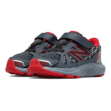 New Balance Hook and Loop 690v4, Grey with Red