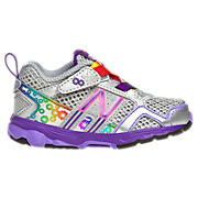 New Balance 695, Silver with Neon Pink & Purple