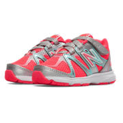 New Balance 697, Silver with Coral Pink