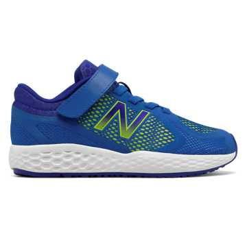 New Balance Hook and Loop 720v4, Blue with Lime Glo