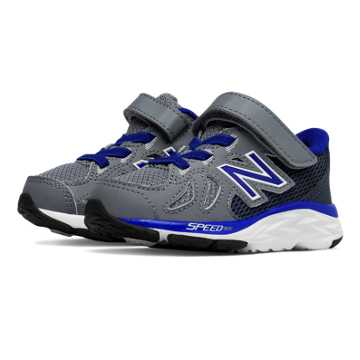 New Balance Hook and Loop 790v6, Grey with Blue