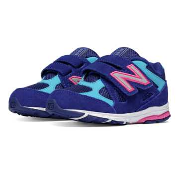 New Balance Hook and Loop 888, Blue with Pink Shock & Blue Atoll