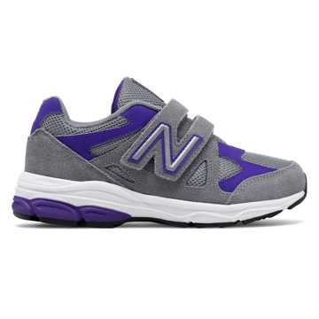New Balance Hook and Loop 888, Grey with Purple