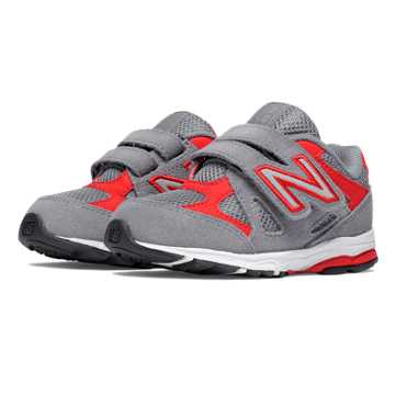 New Balance Hook and Loop 888, Grey with Red