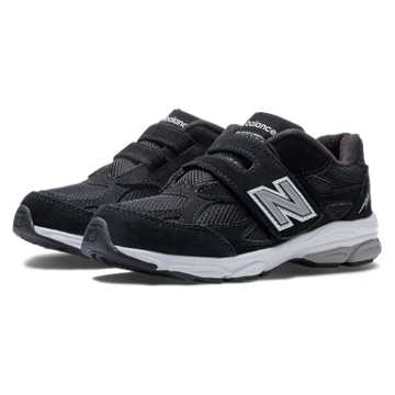New Balance Hook and Loop 990v3, Black with Grey