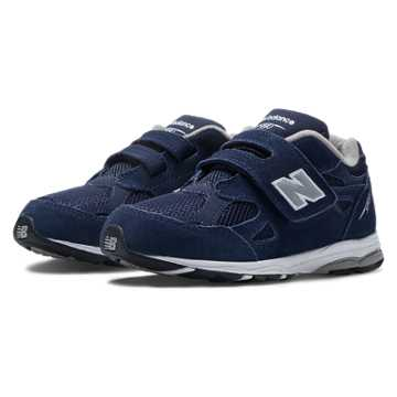 New Balance Hook and Loop 990v3, Navy with Grey