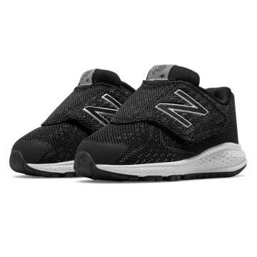 New Balance Hook and Loop Vazee Rush v2, Black with Silver