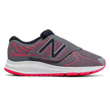 New Balance Hook and Loop Vazee Rush v2, Grey with Pink Zing