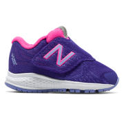 New Balance Hook and Loop Vazee Rush v2, Purple with Pink Zing