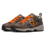 New Balance 624v2, Brown with Tan & Orange