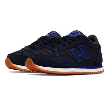 New Balance 501 Ripple Sole, Blue with Black
