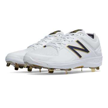 New Balance Low-Cut 3000v3 Admirals Pack Metal Cleat, White with Navy