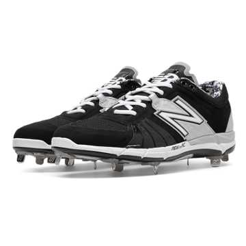 New Balance Low-Cut 3000v2 Metal Cleat, Black with Silver