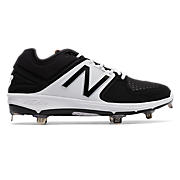 Low-Cut 3000v3 Metal Cleat, Black with White