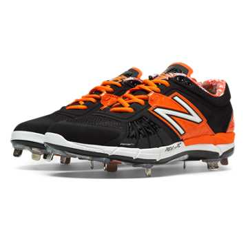New Balance Low-Cut 3000v2 Metal Cleat, Black with Orange