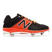 Low-Cut 3000v3 Metal Cleat (MTO), Black with Orange