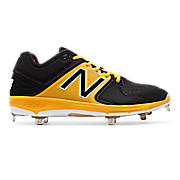 Low-Cut 3000v3 Metal Cleat (MTO), Black with Yellow