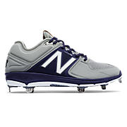 Low-Cut 3000v3 Metal Cleat (MTO), Grey with Navy