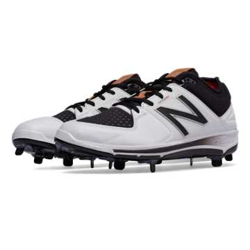 New Balance Low-Cut 3000v3 Hero Metal Cleat, White with Black