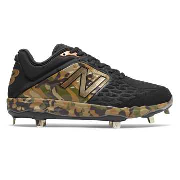 Low-Cut 3000v4 Metal Cleat, Camo Green