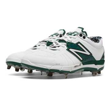 New Balance Low-Cut 3000v2 Metal Cleat, White with Green