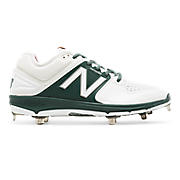 Low-Cut 3000v3 Metal Cleat (MTO), White with Green