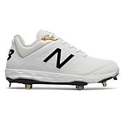 Low-Cut 3000v4 Metal Cleat, White with White