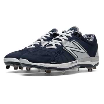 New Balance Low-Cut 3000v2 Metal Cleat, Navy with Silver