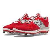 Low-Cut 3000v2 Metal Cleat, Red with Silver