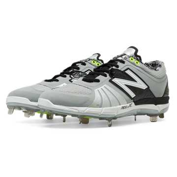 New Balance Low-Cut 3000v2 Metal Cleat, Grey with Black