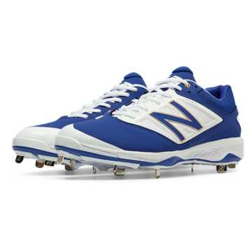 New Balance Low-Cut 4040v3 Metal Cleat, Royal Blue with White