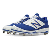 Low-Cut 4040v3 Metal Cleat, Royal Blue with White