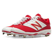 Low-Cut 4040v3 Metal Cleat, Red with White