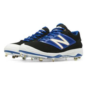 New Balance Low-Cut 4040v3 Metal Cleat, Black with Blue