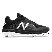 Low-Cut 4040v4 Metal Cleat, Team Black with Black