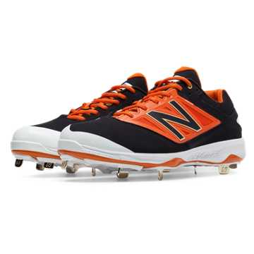 New Balance Low-Cut 4040v3 Metal Cleat, Black with Orange