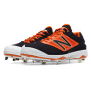 Low-Cut 4040v3 Metal Cleat, Black with Orange