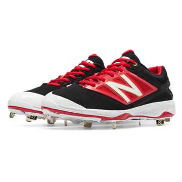 Low-Cut 4040v3 Metal Cleat, Black with Red