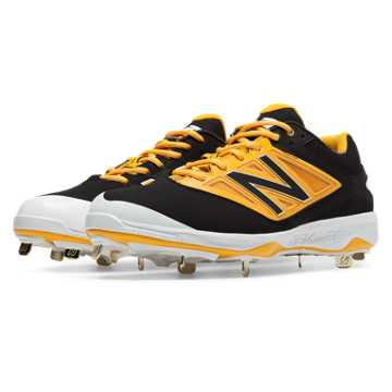 New Balance Low-Cut 4040v3 Metal Cleat, Black with Yellow
