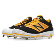 Low-Cut 4040v3 Metal Cleat, Black with Yellow