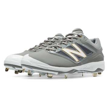 New Balance Low-Cut 4040v3 Metal Cleat, Grey with White