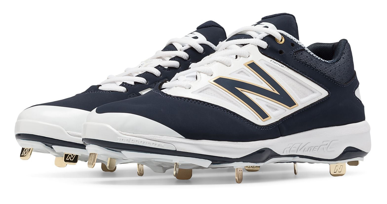 reputable site d3e3a 24855 ... Baseball Cleats, Big Boy s Size 4 W UPC 889116174306 product image for New  Balance Men s Low-Cut 4040v3 Metal Cleat Shoes Navy