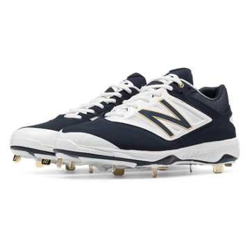 New Balance Low-Cut 4040v3 Metal Cleat, Navy with White