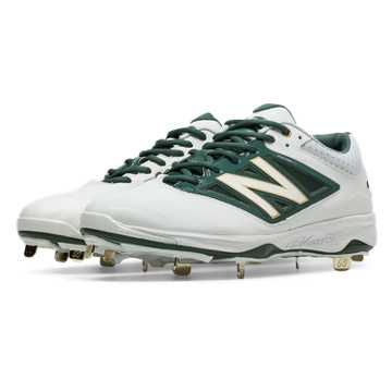 New Balance Low-Cut 4040v3 Metal Cleat, White with Green
