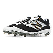 Pedroia Low-Cut 4040v3 Metal Cleat, Black with Grey & White