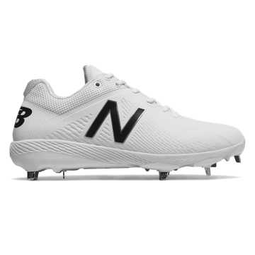 Elements Pack Low-Cut 4040v4 Metal Cleat, White with White