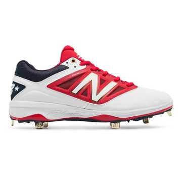 New Balance Low-Cut 4040v3 Standout Pack, White with Red & Navy