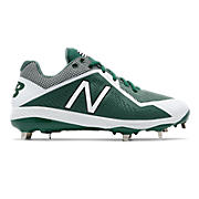 Low-Cut 4040v4 Metal Cleat, Green with White