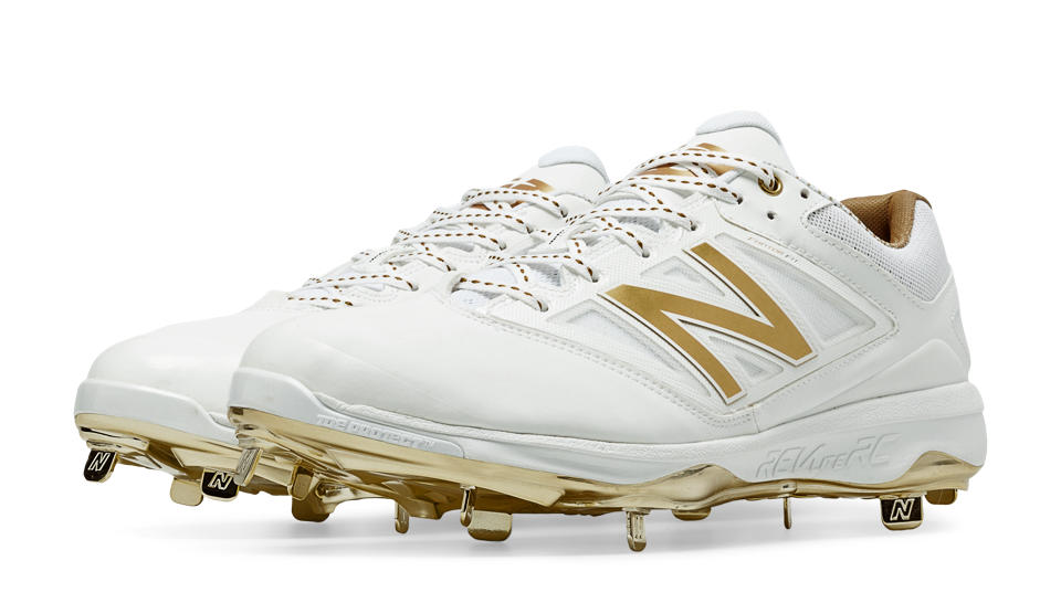 New Balance Gold And White Cleats